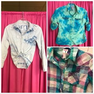 Justice Bundle button up shirts